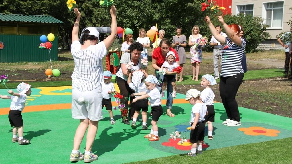 Малышам из Тамбовского областного Дома ребёнка подарили уникальную спортивно-игровую площадку