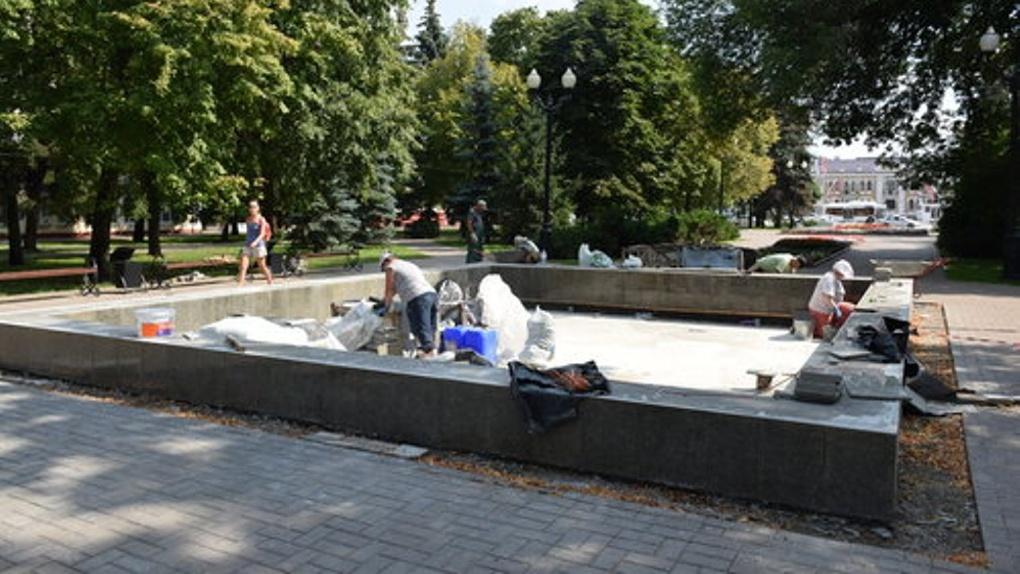 Большую часть фонтанов Тамбова отреставрируют до конца лета