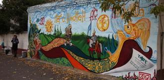 Библиограффити: в Тамбове официально открыли Библиотечную пушкинскую стену