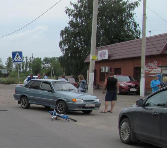 В Жердевке под машину попал малолетний велосипедист