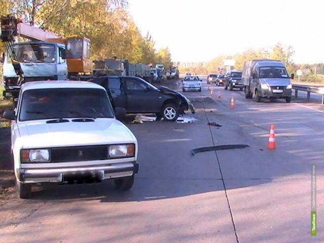 На тамбовской дороге водитель без прав устроил ДТП