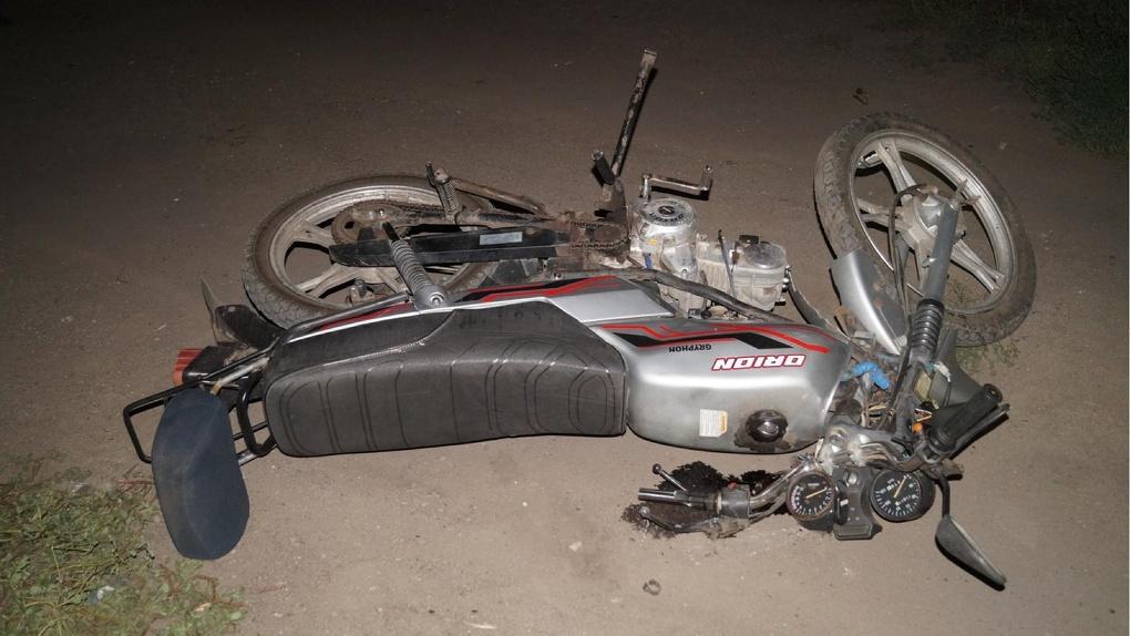 В Мордовском районе восемнадцатилетний мотоциклист не справился с управлением