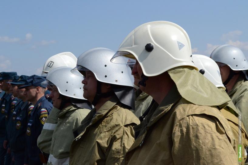 Тамбовские пожарные за сутки трижды боролись с огненной стихией