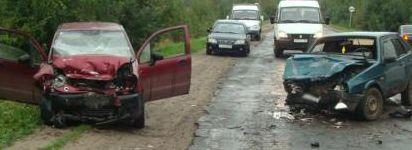 В Моршанском районе Daewoo Matiz лоб в лоб врезался в ВАЗ