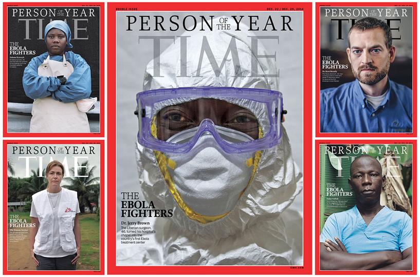 Борцы с Эболой победили Путина в номинации «Человек года» на обложке Time