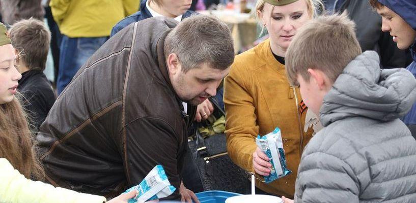 В Мичуринске детям бесплатно раздали 1000 штук мороженого