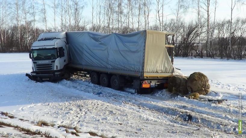 В Петровском районе столкнулись два грузовых авто