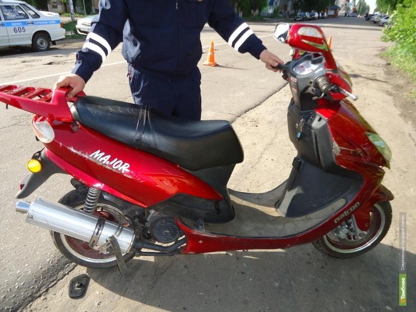 Кирсановец на скутере попал в аварию