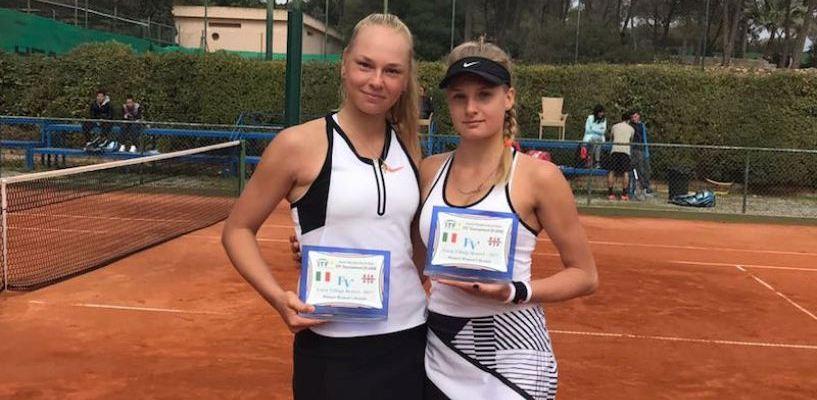 Олеся Первушина стала чемпионкой турнира в Италии в парном разряде