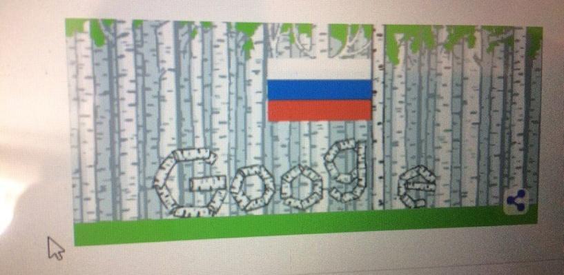 Google украсил главную страницу березками