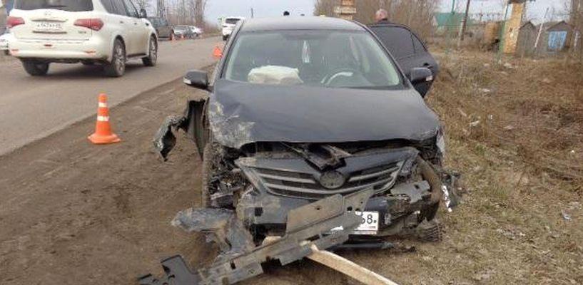 На трассе в Моршанском районе столкнулись три иномарки