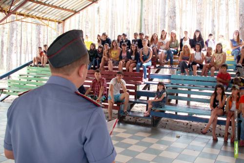 Полицейские Тамбовщины проверяют детские лагеря