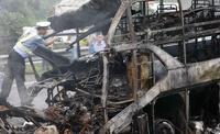 В столкновении автобуса с цистерной в Китае погибли 36 человек