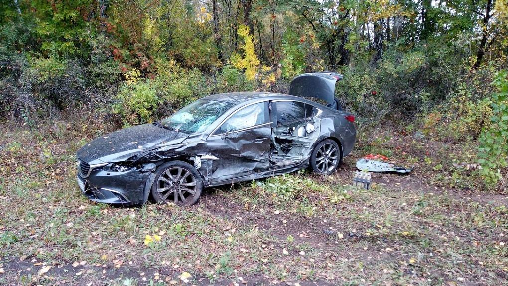 В Первомайском районе произошла авария с участием трех автомобилей и большегруза