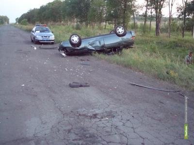 На трассе «Тамбов-Шацк-Новотомниково» накануне перевернулся ВАЗ 2112