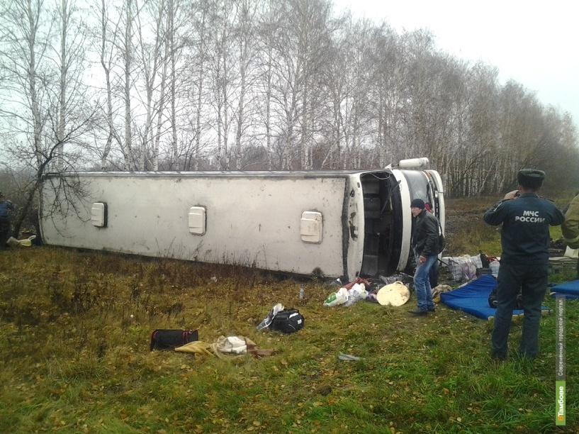 В Тамбовском районе перевернулся автобус с 23 пассажирами