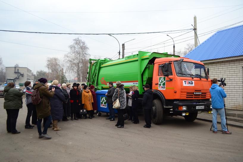 На мусороперерабатывающем заводе провели экскурсию