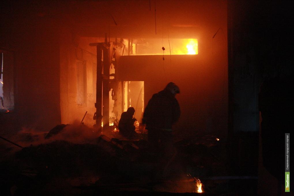 В пожаре на Тамбовщине пострадал мужчина