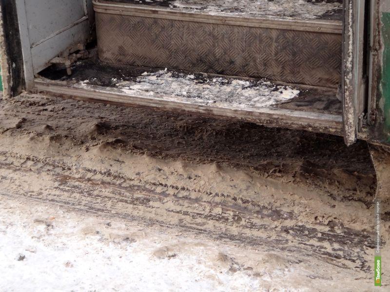 Тамбовчане попадают в автобусы через «полосу препятствий»