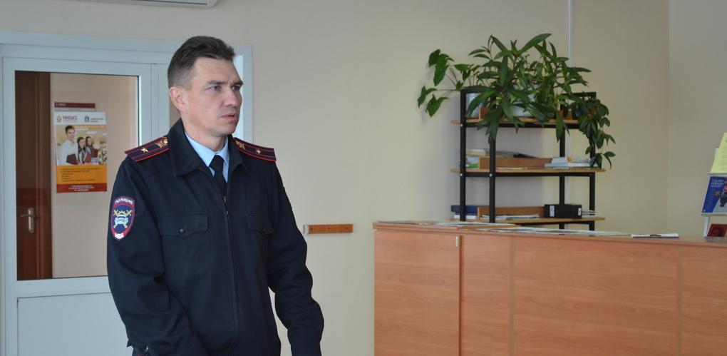 Инспектор УГИБДД провел профилактическую беседу с первокурсниками Тамбовского филиала РАНХиГС