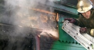 В Тамбове загорелся деревянный дом