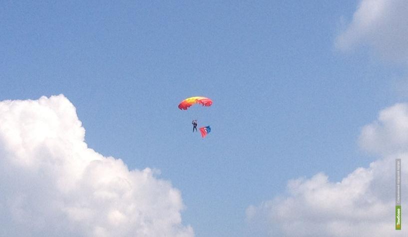 В День ВДВ тамбовчан порадовали  липецкие парашютисты