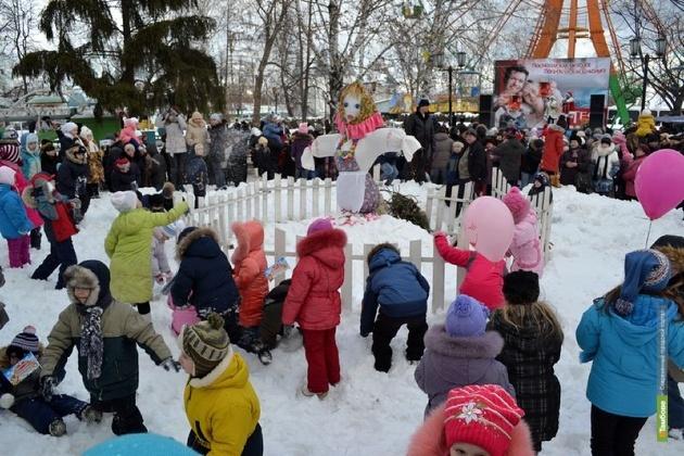 В Тамбове зиму проводят традиционными гуляньями