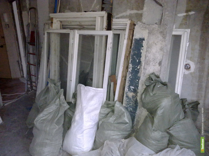 Мешки со строительным мусором подняли тамбовских милиционеров по тревоге