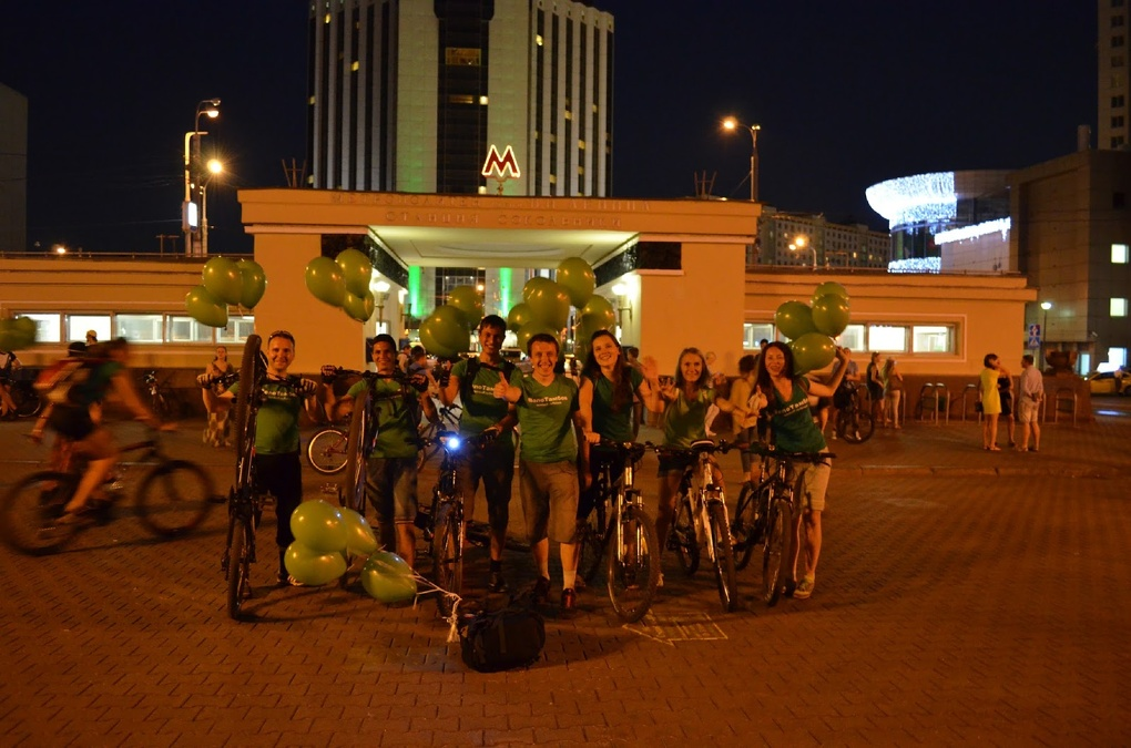 «ВелоТамбовчане» в Москве: история о том, как столица на одну ночь превратилась в город велосипедистов