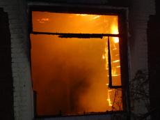 В центре Тамбова горел частный дом