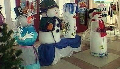 Тамбовские школьники слепили снеговиков...без снега