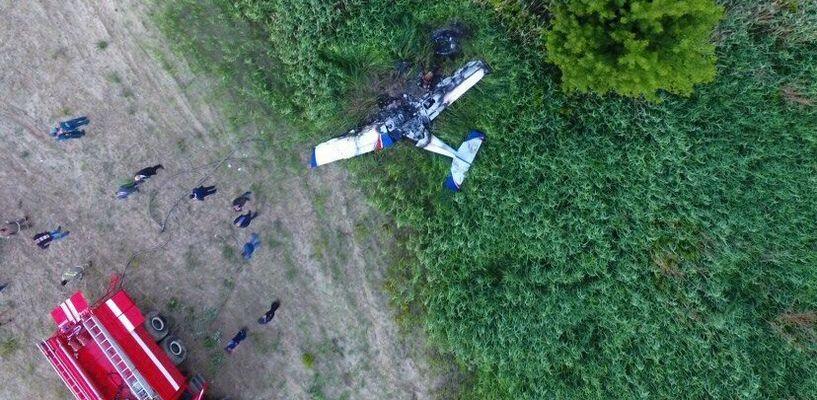 Хроника падения самолёта в Тамбове: пилот погиб