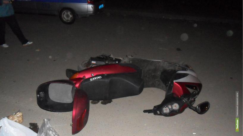 В Тамбове 26-летний скутерист пострадал в ДТП