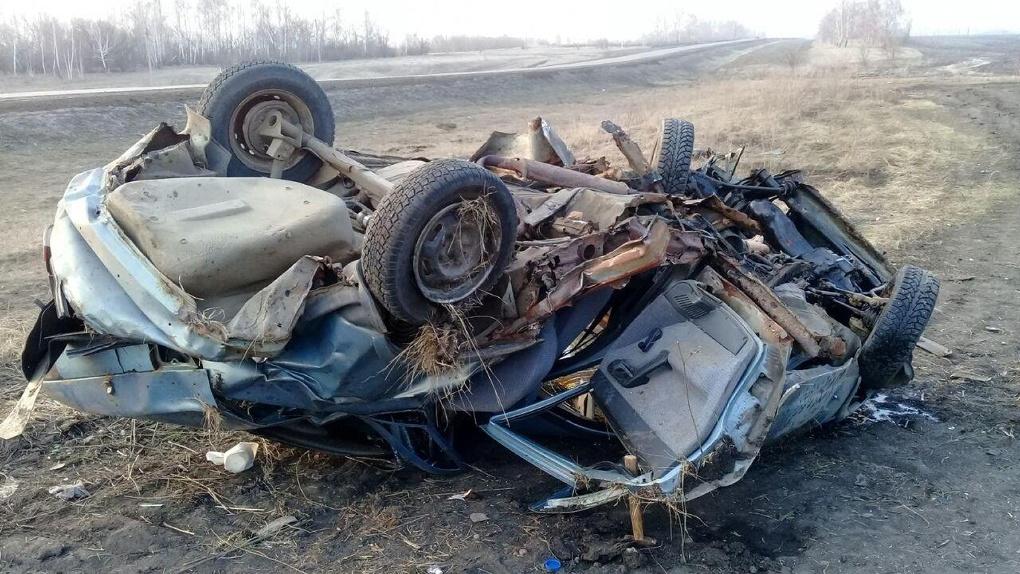 В Тамбовской области ВАЗ улетел в кювет: водитель не справился с управлением