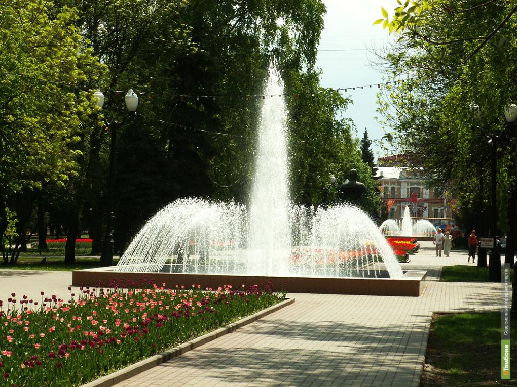 В Тамбове 1 мая начнут работать фонтаны