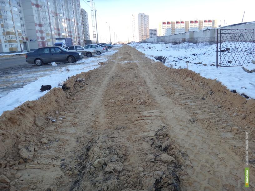 Жителей Северной части Тамбова избавят от грязных тротуаров