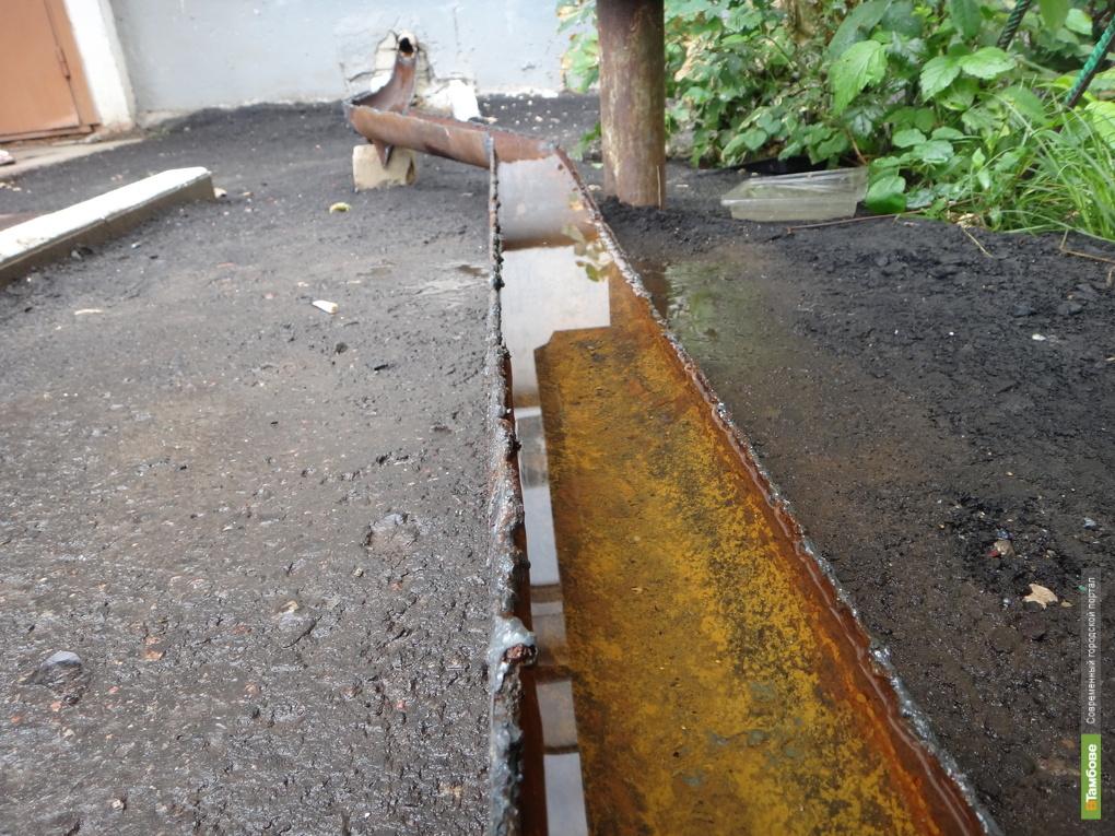 В Тамбове ремонт двора закончился «потопом» в подвале