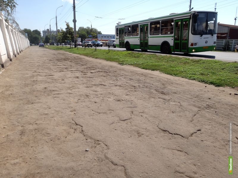 Пешеходные зоны в Тамбове требуют ремонта