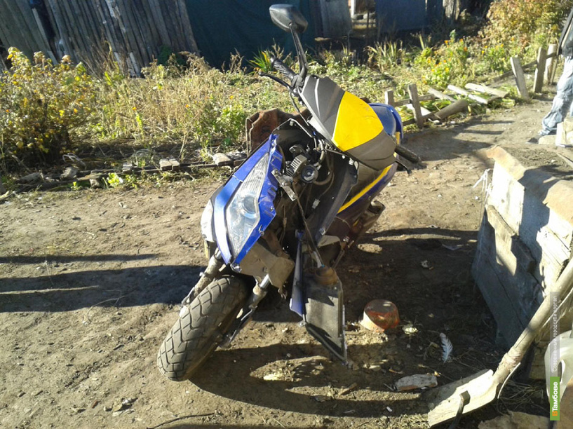 В Кирсанове перевернулся несовершеннолетний мотоциклист