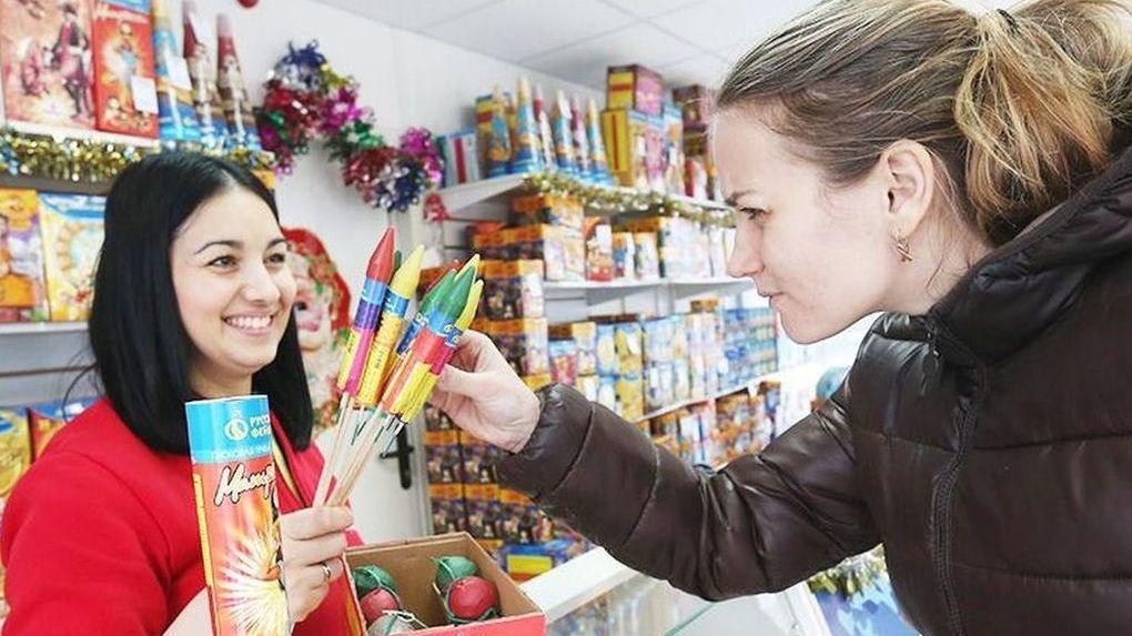 В Тамбовской области покупают меньше всего фейверков
