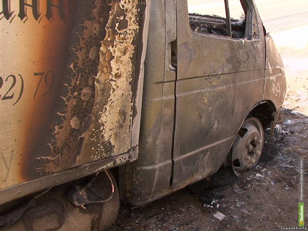 На тамбовском участке М-6 загорелась «Газель»