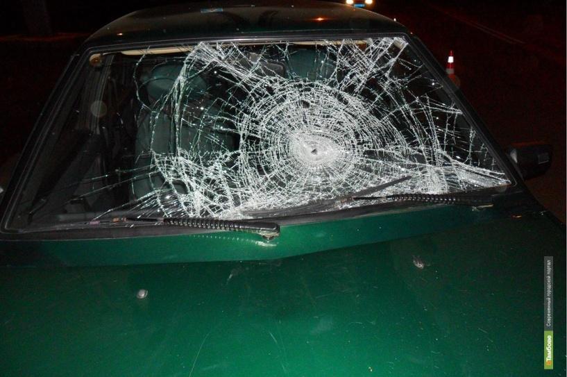 В Тамбове «Honda» протаранила снегоуборочную машину