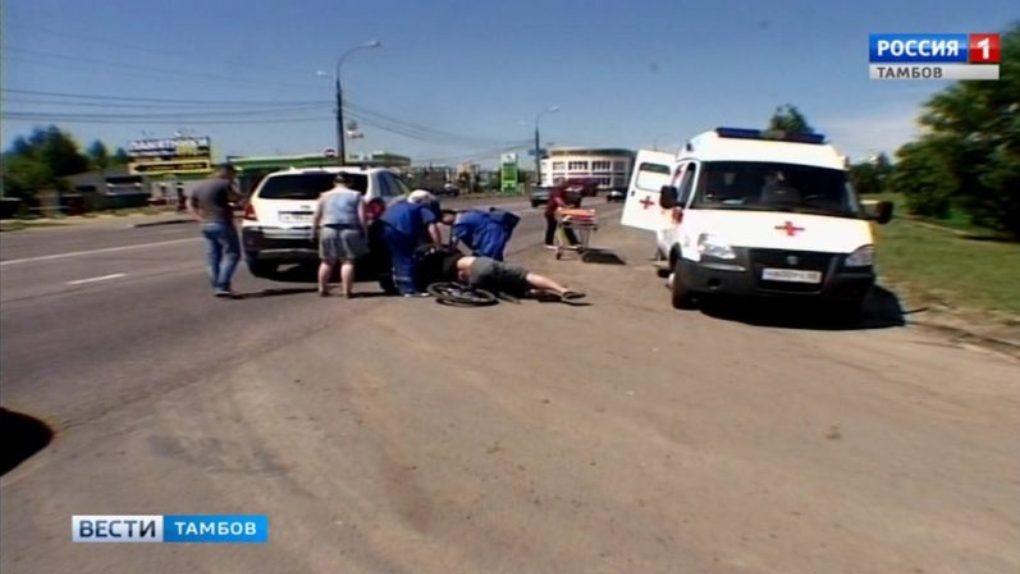 На въезде в Тамбов велосипедист попал под колёса авто