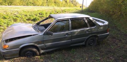 В Мичуринском районе перевернулся автомобиль
