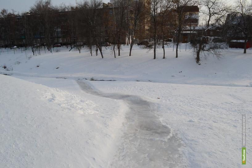 Власти Тамбова предостерегают горожан от прогулок по речному льду