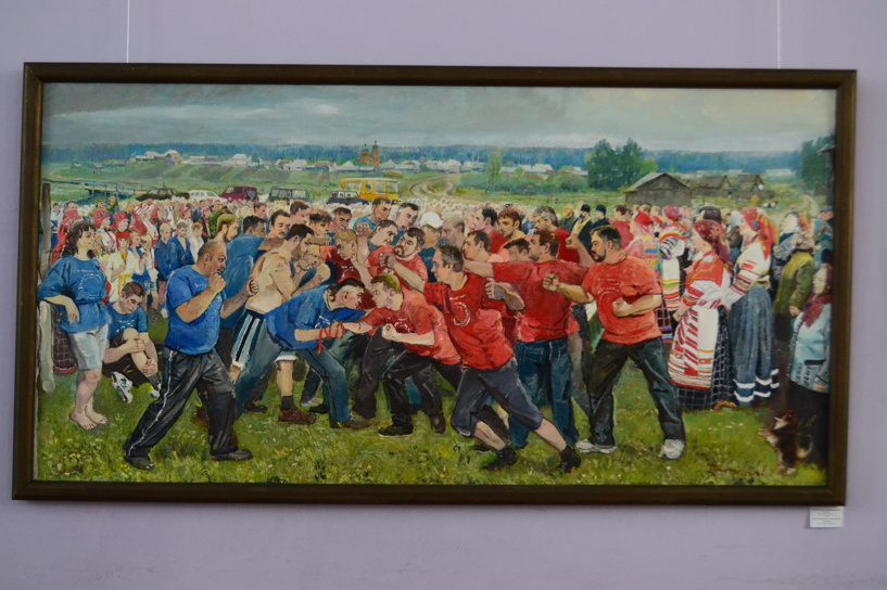 Тамбовский художник изобразил на холсте «Атмановские кулачки»