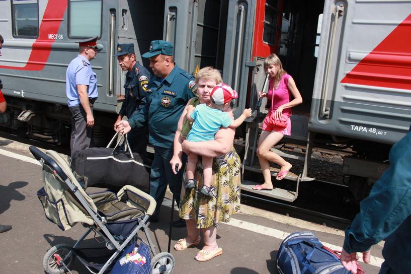 В область приехали ещё более ста беженцев с Украины