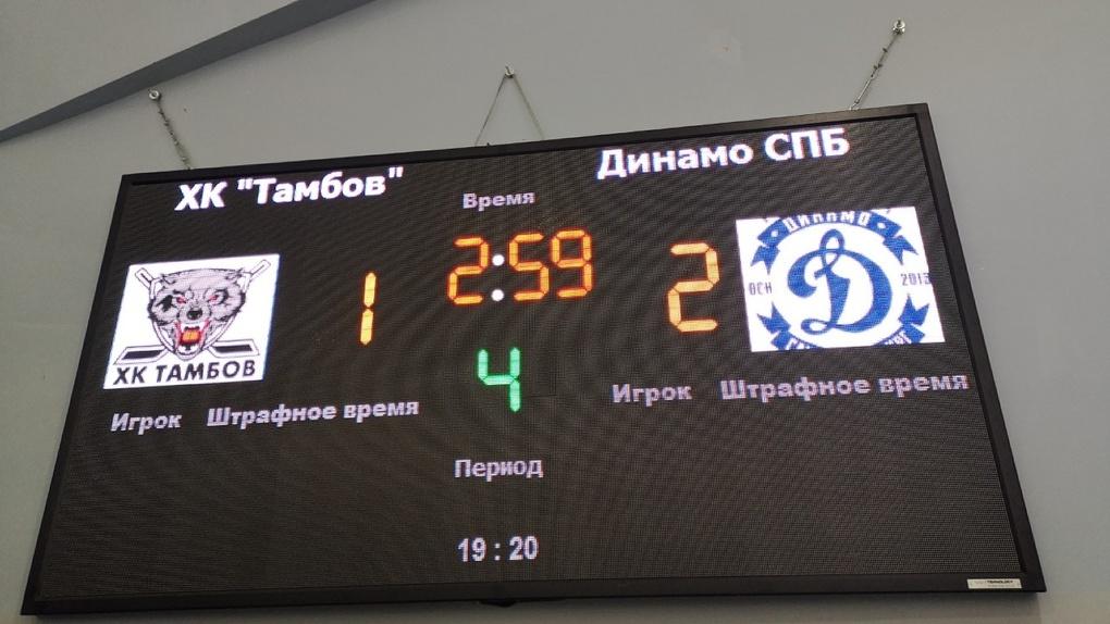 ХК «Тамбов» очень старался, но проиграл в овертайме питерской команде
