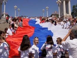 В День российского флага тамбовчане пронесут триколор-гигант