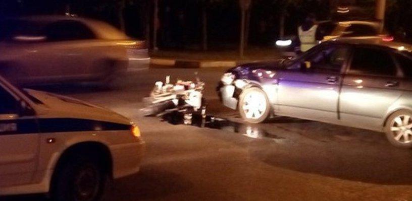 В Тамбове столкнулись авто и мотоцикл: есть жертвы